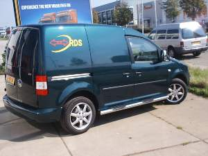 VWCA05SSTMP6 VOLKSWAGEN CADDY 2005+	 SIDE STEPS & PLASTIC STEPS   Ø 76